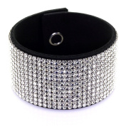 Spark Luxury Black Cuff with Silver.