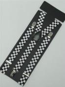 Black & White Chequered Braces