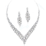 Clear diamante crystal necklace set - brides/bridesmaids/proms