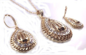Beautiful Name Of Allah In Arabic Necklace & Earings Set Muslim Pendant
