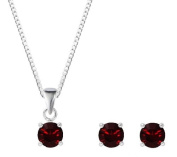 Silver January Birthstone Crystal Earring & Pendant Set With. ELEMENTS
