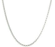Sterling Silver 925 Ladies Belcher Chain 45cm