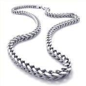 Konov Jewellery Mechanic Style Stainless Steel Mens Necklace Link Chain, Colour Silver, Length 56cm 22 inch