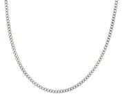 """Silver Panza Curb Chain 51cm/20"""""""