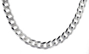 """Silver Flat Curb Chain Necklace 51cm/20"""""""