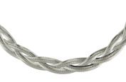 Silver Twined Flexible Herringbone Chain 43cm