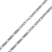 Bling Jewellery Men Stainless Steel Figaro Chain 4mm Necklace 24in