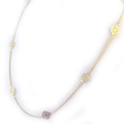"""Necklace plated gold """"Air Filigrane""""."""