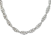 """Silver Rope Chain Necklace 46cm/18"""""""