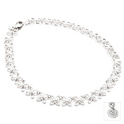 60th Birthday Gift A Sterling Silver Linked Butterfly Necklace