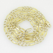 """Gold-Chains Mens 10K yellow gold franco cuban miami figaro bullet rope fancy chain gc117 Length - 22"""" Width - 4mm"""