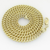"""Gold-Chains Mens 10K yellow gold franco cuban miami figaro bullet rope fancy chain gc48 Length - 26"""" Width - 4mm"""