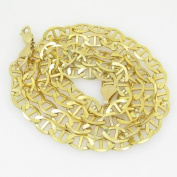 """Gold-Chains Mens 10K yellow gold franco cuban miami figaro bullet rope fancy chain gc56 Length - 30"""" Width - 8mm"""