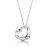 FST:TI-5 CZ NEW:Stunning 925 Sterling silver plated Open Heart Pendent set with cz cubic zirconia ,T Designer Style Open Heart drop Fashion Necklace,Pendent. Excellent quality, fast delivery 46cm Long silver plated Neck chain included ,By Deals-Poin ..