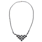 Handcrafted Hematite necklace with Trapezoid Pendant