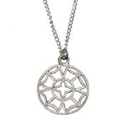 Pewter Odin's Eye North Star Viking Pendant Necklace
