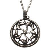 Pewter Viking Sun Wheel Jormundgand Midgard Serpent Wealth Amulet Pendant