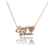 Chaomingzhen Best Mum Letter Pendants Necklaces for Mom for Women with Chain 46cm