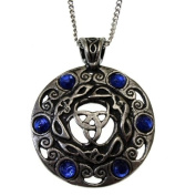 Pewter Crystal Jewels of the Moon Pendant Necklace