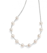 Elements Sterling Silver Women's N3530W White Pearl Necklace of 45cm