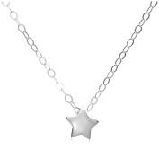 Jo For Girls Silver Children's Polished Star Slider Pendant on 35.5cm Chain