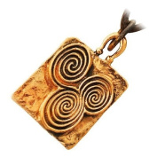 Bronze Newgrange Celtic Pendant Necklace Symbolising Infinity Re-birth and Spiritual Growth