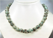 Beautiful necklace from Lotus Jasper spherical shape D-12mm L-46mm *New*