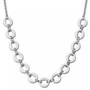 Amello necklace ceramic rings white - size 70cm - Woman necklaces - Stainless Steel necklace ESKX02W
