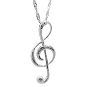 Chaomingzhen Sterling Silver Music Note Pendants Necklaces for Women Chain Length 46cm
