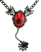 Too Fast Womens Spider And Spider Web Gothic Cameo Necklace - One Size
