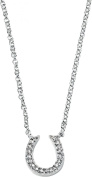 Elements Sterling Silver, Ladies, N3467C, Horse Shoe Clear Pave Cubic Zirconia Necklace of Length 46cm