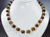 * Tiger Eye and Freshwater Pearls (beads) * gorgeous necklace , new * very beautiful gemstones * amazing chain * excellent semiprecious stones *
