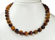 * Tiger Eye * Gorgeous necklace * Very beautiful gemstones, golden - brown coloured * new * fantastic * amazing chain from semiprecious stones *