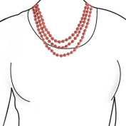 Bling Jewellery Orange Coral Colour Long Shell Pearl Strand Endless Necklace 160cm