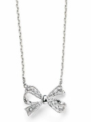 Elements Sterling Silver for Ladies with Bow Necklace Cubic Zirconia with Chain of Length 40-45cm Extension N3606C