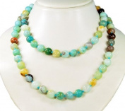Excellent necklace made of Amazonite, ball-shaped D-10mm *very beautiful multicoloured gemstones, healing stones, semiprecious stones * lovely unique chain, lenght