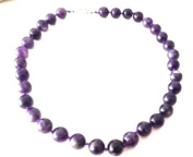 Reiki Jewels Amethyst Large Round Beaded Necklace