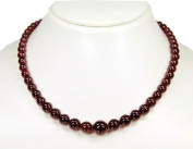* Garnet * Wonderful necklace, deep brownish burgundy coloured * Very beautiful gemstones * Top * Lovely chain * Amazing semiprecious stones * New * Excellent * Fantastic handcrafted chain *