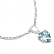 Jewellery-Schmidt-Blue Topaz Heart Necklace 925 Sterling-silver-0, 92 carats