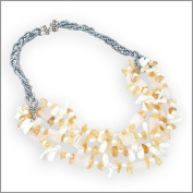 Citrines with Freshwater Pearls Nacklace