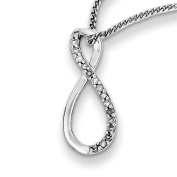 Sterling Silver Rhodium Plated Diamond Accent Infinity Necklace - JewelryWeb