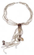 Lustrous-Bejewelled Champagne Pearl Lariat