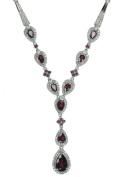 Rhodolite Garnet Sterling Silver Necklace