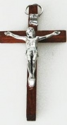 Small Brown Wood Crucifix. Wall hanging Crucifix. Wood Cross