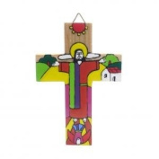 Hand painted Cross. Bedroom Cross. Wood Crucifix, Confirmation Gift.