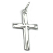 Religious jewellery pendant necklace pendant small cross from 925 silver 19x11mm