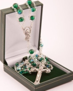 Green Ladder Rosary Bead. Gift Boxed Roman Catholic Rosary