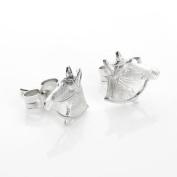 925 Sterling Silver Horse Head Stud Earrings / Studs