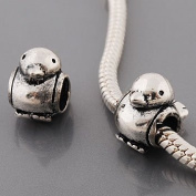 Believe Beads 1 x Silver Plated Duck/Chick Spacer Charm Bead for Pandora/Troll/Chamilia Style Charm Bracelet
