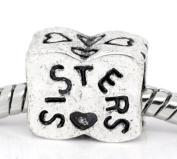 Believe Beads © 1 x Sister Charm Bead will fit Pandora/Troll/Chamilia Style Charm Bracelets